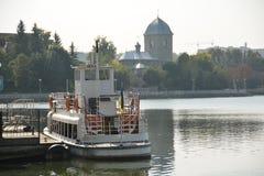 Jezioro w mieście Ternopil Fotografia Royalty Free