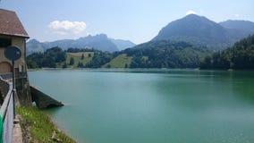 Jezioro w montsalvense zdjęcia stock