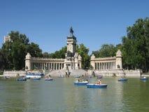Jezioro w ogródzie w Madryt Zdjęcia Royalty Free