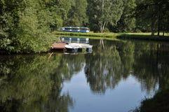 Jezioro w Pavlovsk Zdjęcia Royalty Free