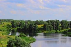 Jezioro w polu Zdjęcie Royalty Free