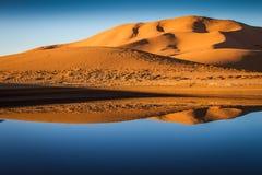 Jezioro w pustyni Zdjęcie Royalty Free
