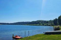 Jezioro w ranek Obrazy Stock