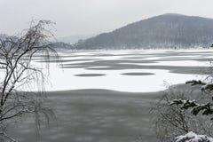Jezioro w RoÅ ¼ nà ³ w w zimie Zdjęcia Royalty Free