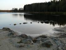 Jezioro w wiecz?r zdjęcie stock