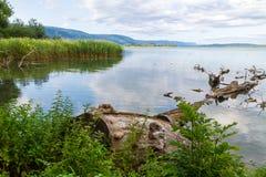 Jezioro w wsi Obrazy Royalty Free