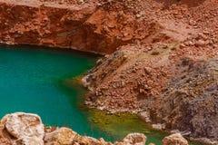 Jezioro w zalewającym łupie Obraz Stock