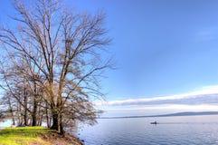 Jezioro w zimie zdjęcia stock