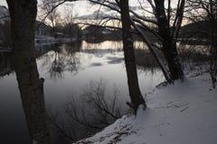 Jezioro w zimie Obrazy Royalty Free