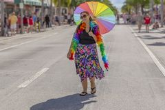 Jezioro Warty, Floryda, usa Marzec 31, 2019 Przed, palm beach dumy parada obrazy stock