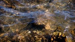 Jezioro wodny i skały tekstury tło Fotografia Stock