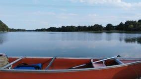 Jezioro z łodzią Obrazy Stock