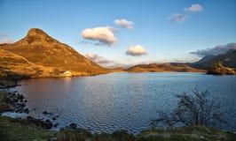 Jezioro z boathouse zdjęcie stock