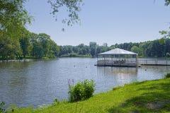 Jezioro z czasu wolnego molem Fotografia Stock