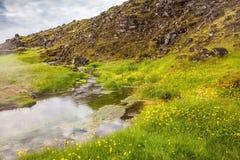 Jezioro z gorącą wodą na źródle fotografia royalty free