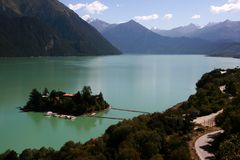 jezioro zaciszność zdjęcia royalty free