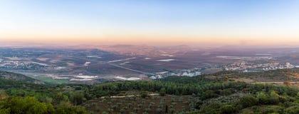 Jezreel dal, Israel Arkivfoto