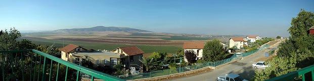 Jezreel dolina HaMoreh i Givat Zdjęcia Stock