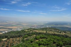 Jezreel Tal von Mt. Carmel Stockfotografie