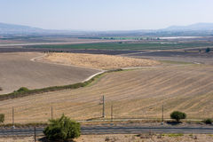 Jezreel Valley. The Jezreel valley as seen from the ancient city Megiddo Stock Photography