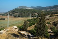 The Jezreel Valley and Gilboa Mountains, Israel royalty free stock photography