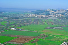 Jezreel  Valley in Israel Royalty Free Stock Images