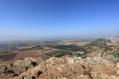 Jezreelvallei van Onderstelafgrond, Israël Stock Afbeelding