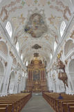 Jezuïet Katholieke kerk Luzerne 24 Juli 2017 Royalty-vrije Stock Afbeelding