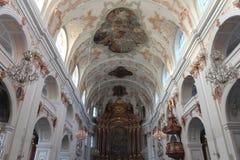 Jezuïetkerk in Luzerne Stock Fotografie