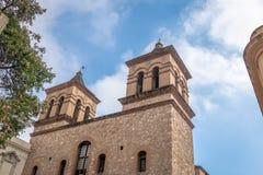 Jezuïetkerk van de Maatschappij van Jesus Iglesia de la Compania de Jesus bij het blok van Manzana Jesuitica - Cordoba, Argentini royalty-vrije stock afbeeldingen