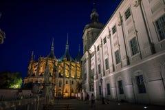Jezuïetuniversiteit, St Barbara ` s Tempel, Kutna Hora, Tsjechische republiek, Europa royalty-vrije stock afbeelding