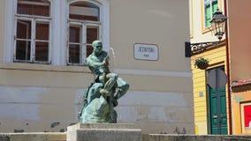 Jezuïetvierkant, Zagreb stock footage