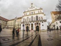 Jezuita kościół dzwoniący St Michael Kirche w Monachium Zdjęcie Stock