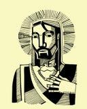 Jezus Święty serce ilustracja wektor