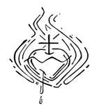 Jezus Święty serce f royalty ilustracja