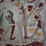 Jezus batożył dwa mężczyzna, gothic fresk Obraz Stock