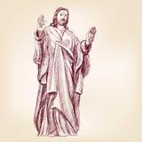 Jezus Chrystus chrystianizmu wektoru llustration royalty ilustracja