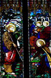 Jezus Chrystus i Maryjnego Magdalene witraż fotografia royalty free