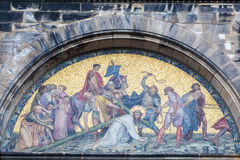 Jezus Chrystus krzyżowania mozaika Fotografia Royalty Free