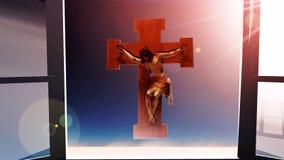 Jezus Chrystus na krzyżu ilustracji