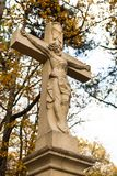 Jezus Chrystus na przecinającej statui Obraz Stock