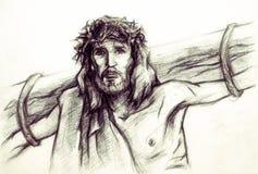 Jezus Chrystus Nazareth Obraz Royalty Free