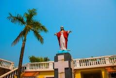 Jezus Chrystus statua Fort Tiracol goa indu obraz royalty free
