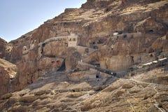 Jezus Chrystus wziąć odosobnienie Ortodoksalnego monaster kuszący Zdjęcie Royalty Free