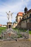 Jezus Chrystus z otwartą ręki statuą, Velehrad bazylika, republika czech obraz royalty free