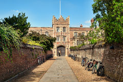 Jezus College, Cambridge. Royalty Free Stock Images