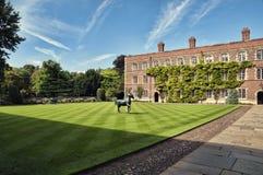 Jezus College, Cambridge. stock photo