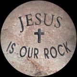 Jezus jest nasz skałą Zdjęcia Stock
