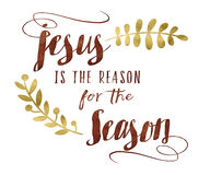 Jezus jest powodem dla sezonu Obraz Royalty Free
