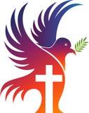 Jezus krzyża gołębia logo Zdjęcie Royalty Free